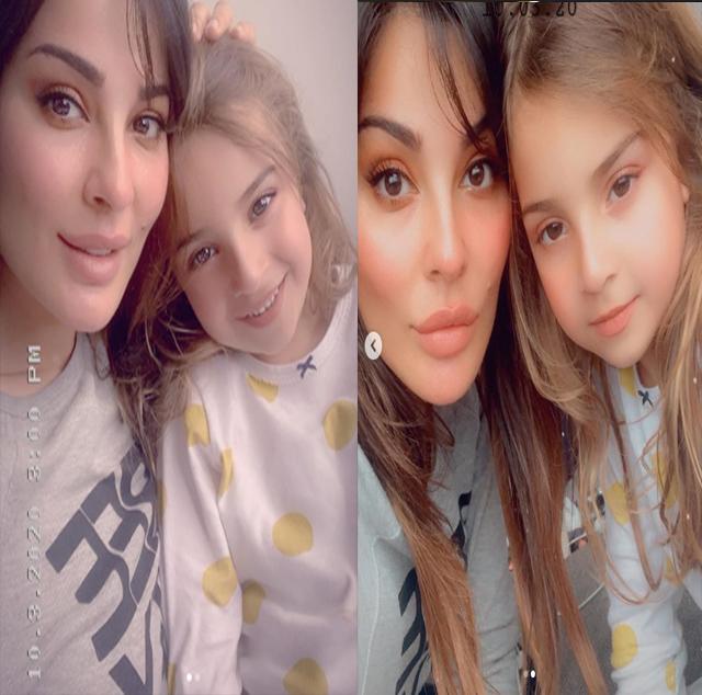 أول ظهور لابنة نادين نسيب نجيم وحقيقة اعتزالها الفن