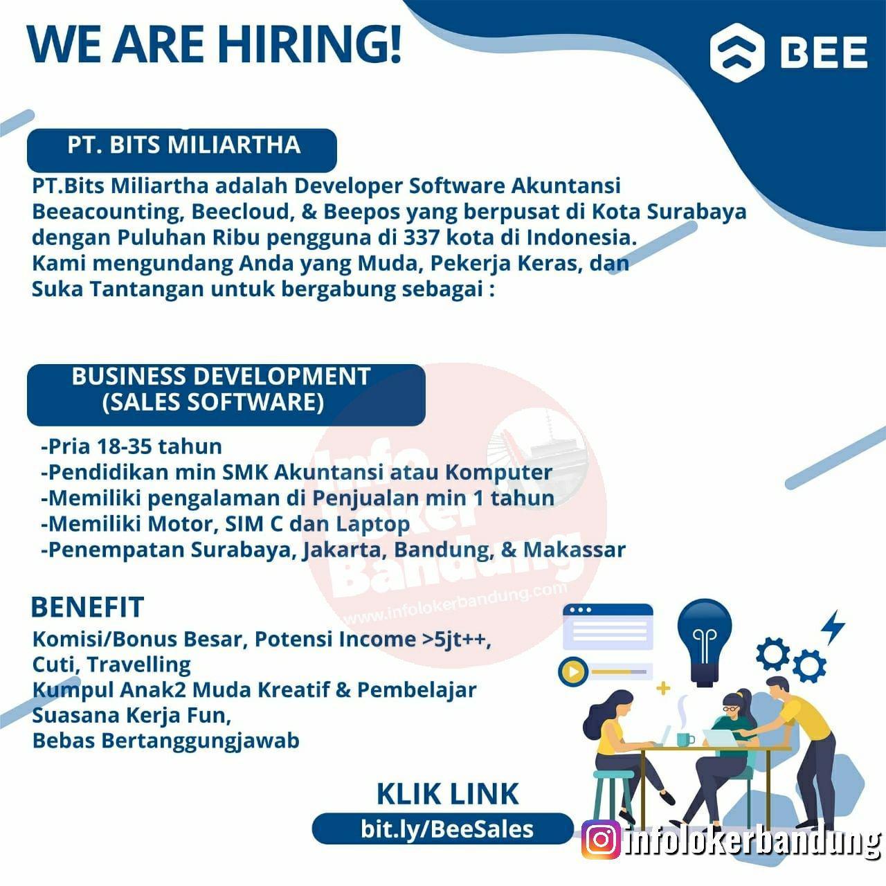 Lowongan Kerja Business Development PT. Bits Miliartha Bandung Oktober 2019