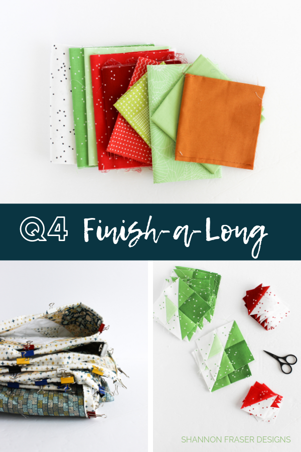 Q4 Finish-a-Long List of Projects | Shannon Fraser Designs #wip #quilting #modernquilter