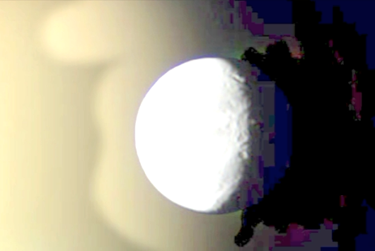 Saturn Moon Dione and Titan are UFOs, from Cassini NASA photos, see video. UFO Sighting News.