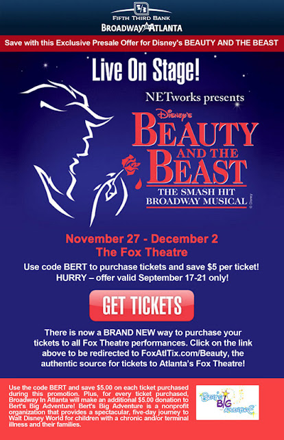 Save on tickets to Disney's Beauty & the Beast with Bert's