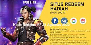 Kode Redeem FF 28 Agustus 2020