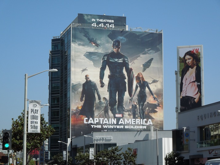 Captain America Winter Soldier movie billboard