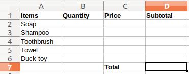 LibreOffice Calc Macro Example: Simple Cash Register