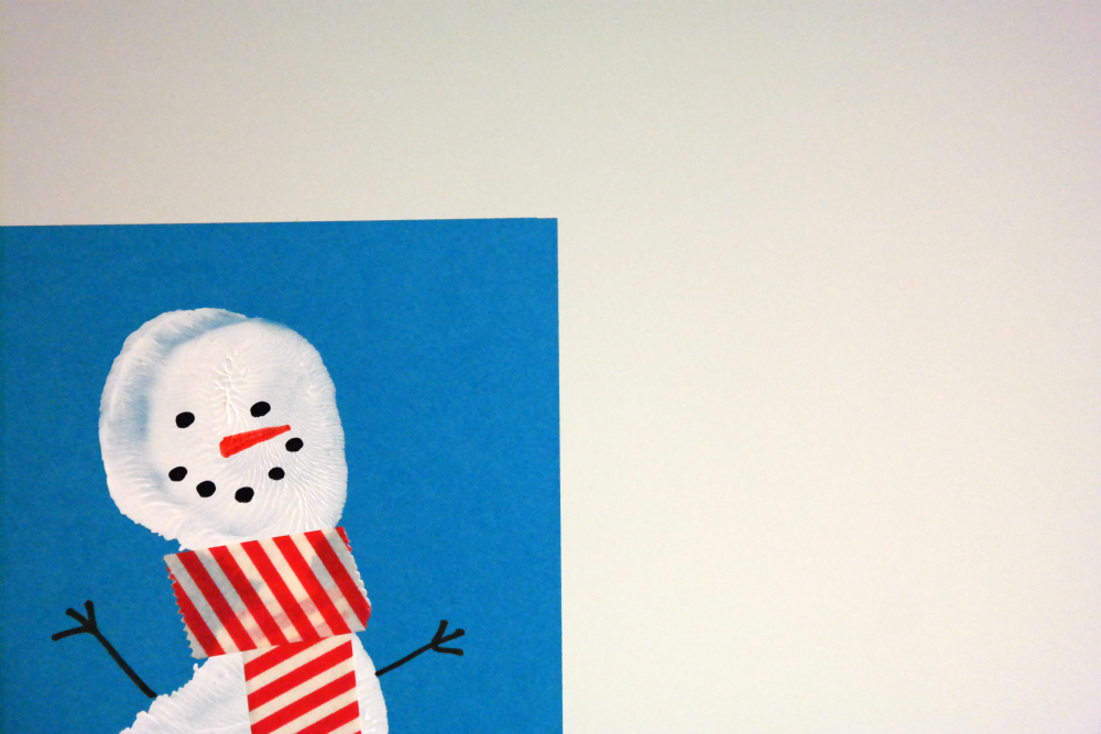 Snowman Footprint Christmas Cards