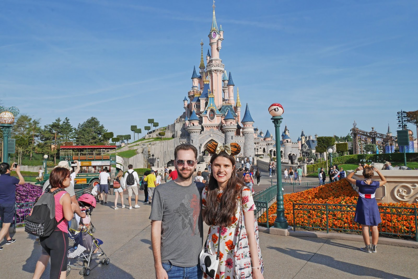 Photo in front of Sleeping Beauty's Castle at Disneyland Paris
