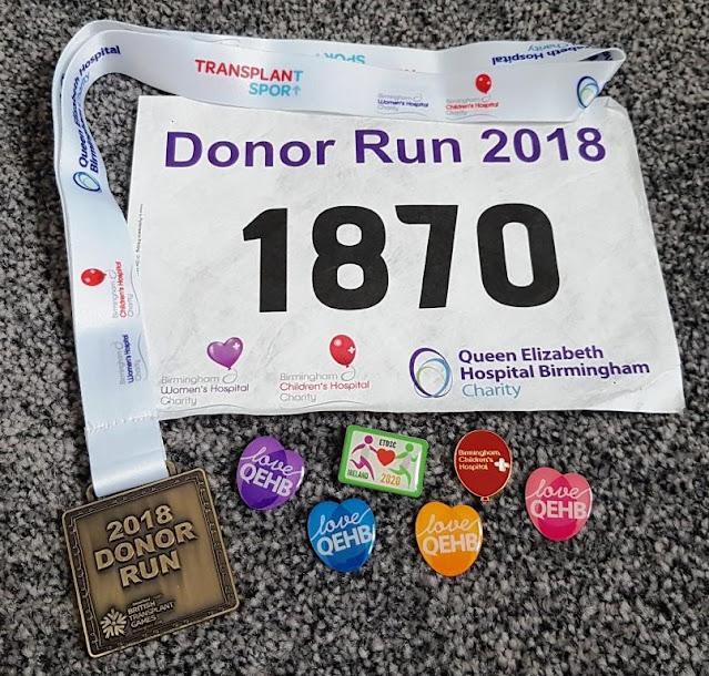 British Transplant Games badges and medal 2018