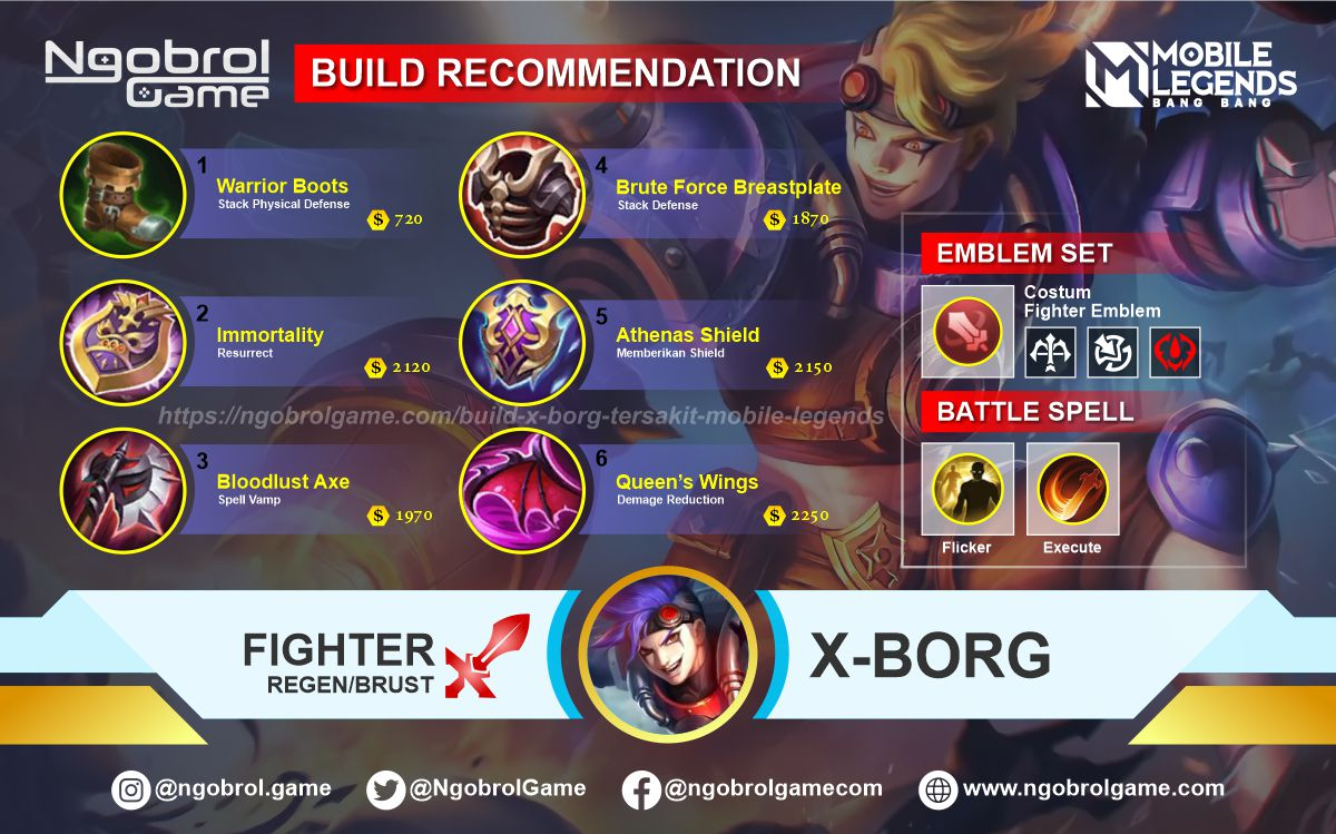 Build X Borg Savage Mobile Legends
