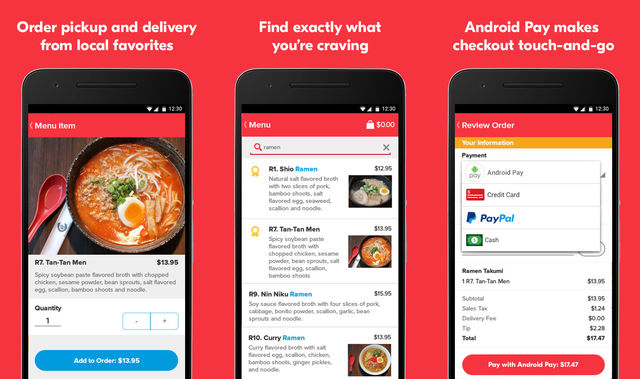 Grubhub Food Delivery App For Android