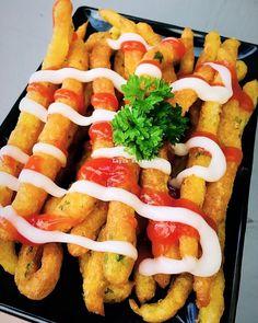 Resep Kentang Goreng Panjang Kekinian Long Potato Fries