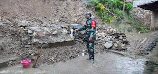 Talut Setinggi 3 Meter Ambrol Setelah Diguyur Hujan Di Dukuh Tempur