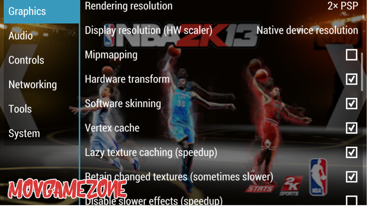 The Best PPSSPP Game Setting Of NBA 2K13 - Free PSP Games