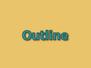 Outline text