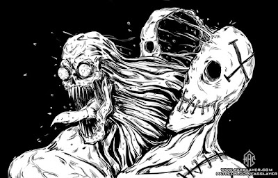 horrible monster lineart drawing art horror