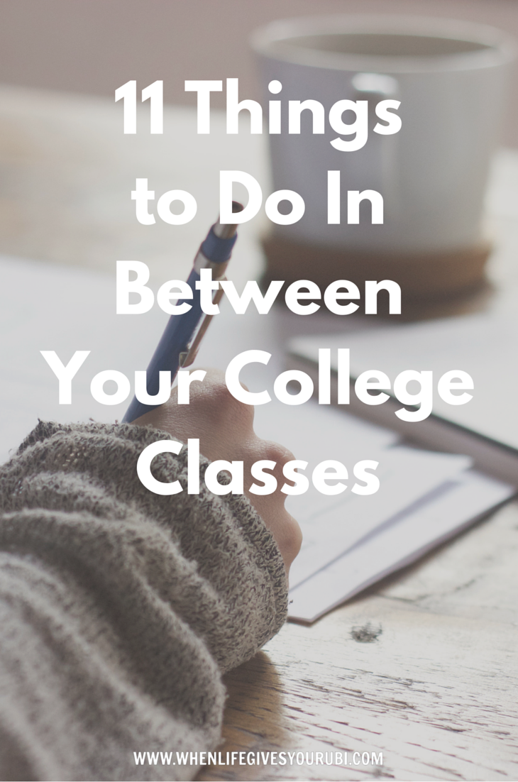 Not sure of how to spend your time in between your college classes? Click to read of all the productive things you can do while you wait for your next college class to start. Stop wasting your time waiting for you next class to start.