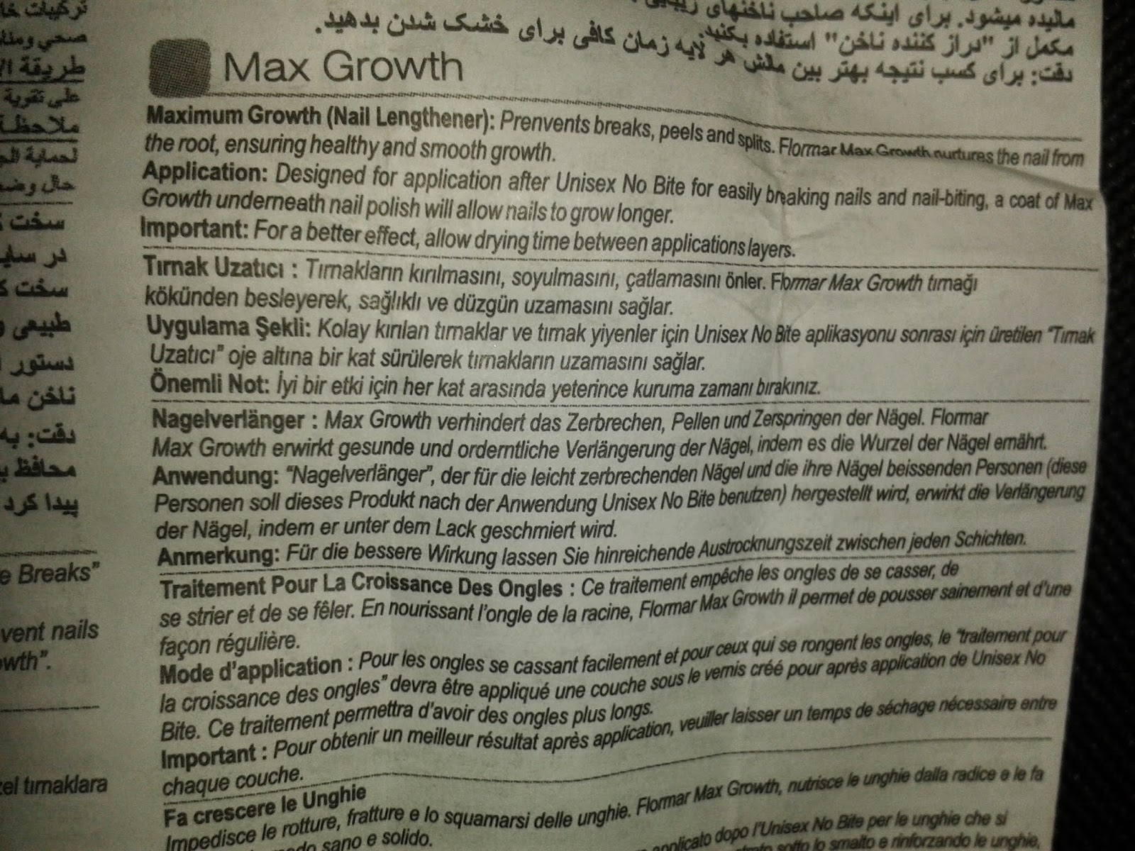 Flormar-max growth-tırnak uzatıcı