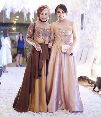 Model Baju Gamis Kombinasi Brokat Untuk Acara Perkawinan