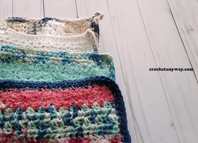dishrag crocheted with scrub off yarn