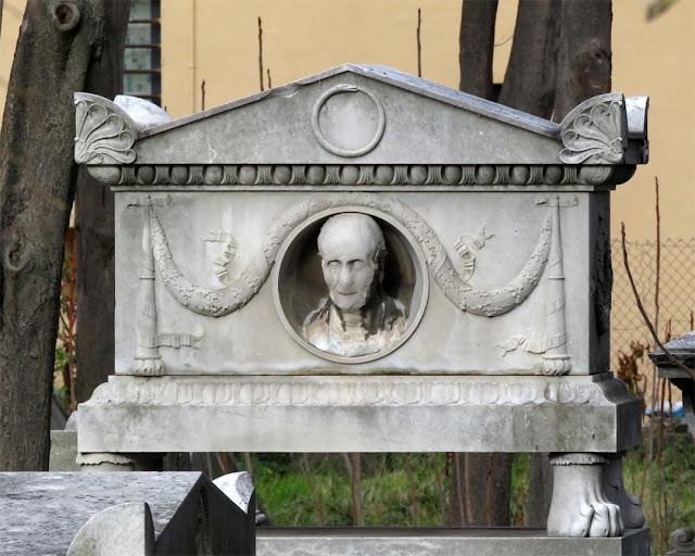 Grave with a view (and ouroboros), Old English Cemetery, Via Verdi, Livorno