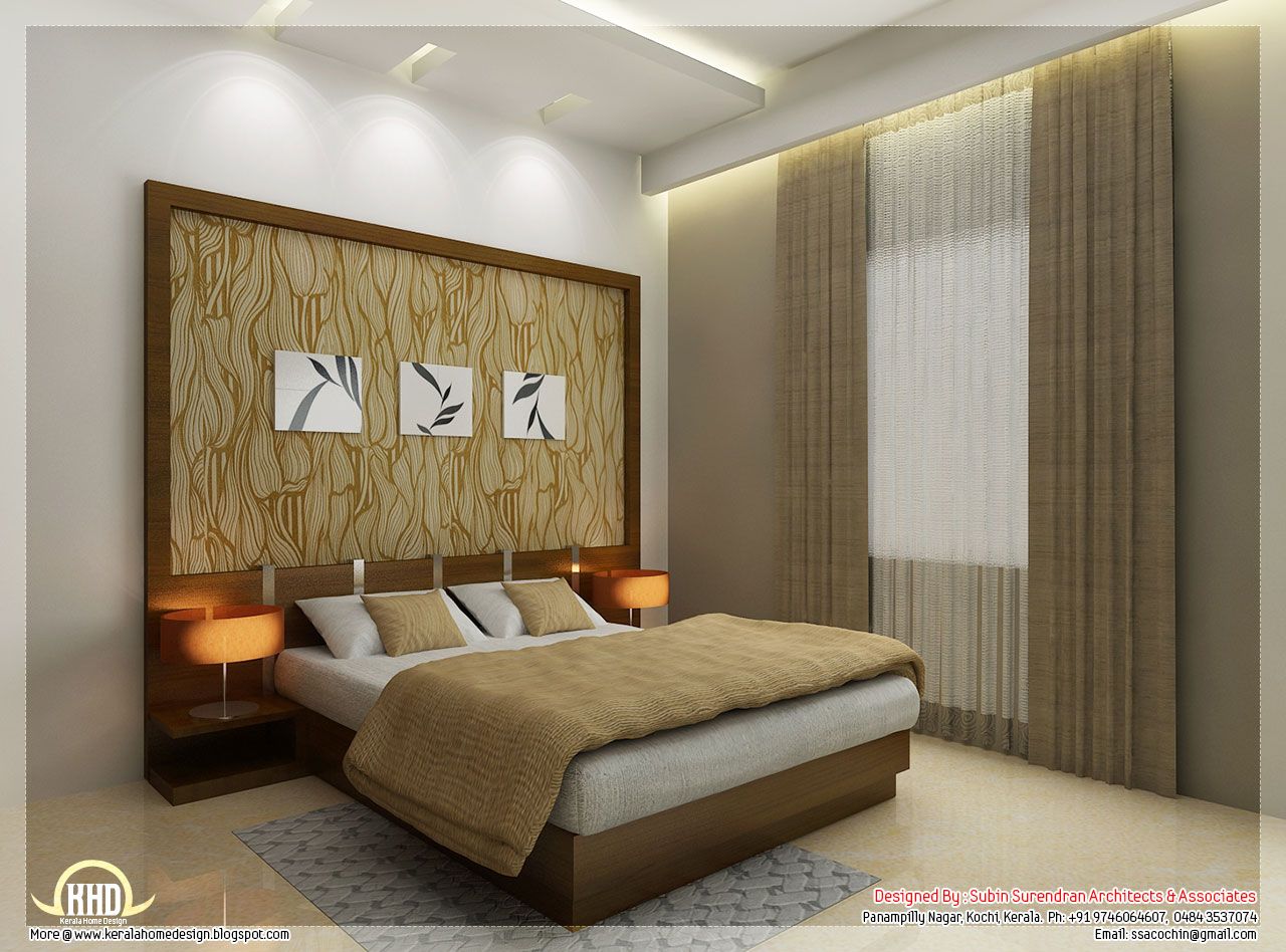 Beautiful interior design ideas kerala home design and for Bedroom painting ideas india