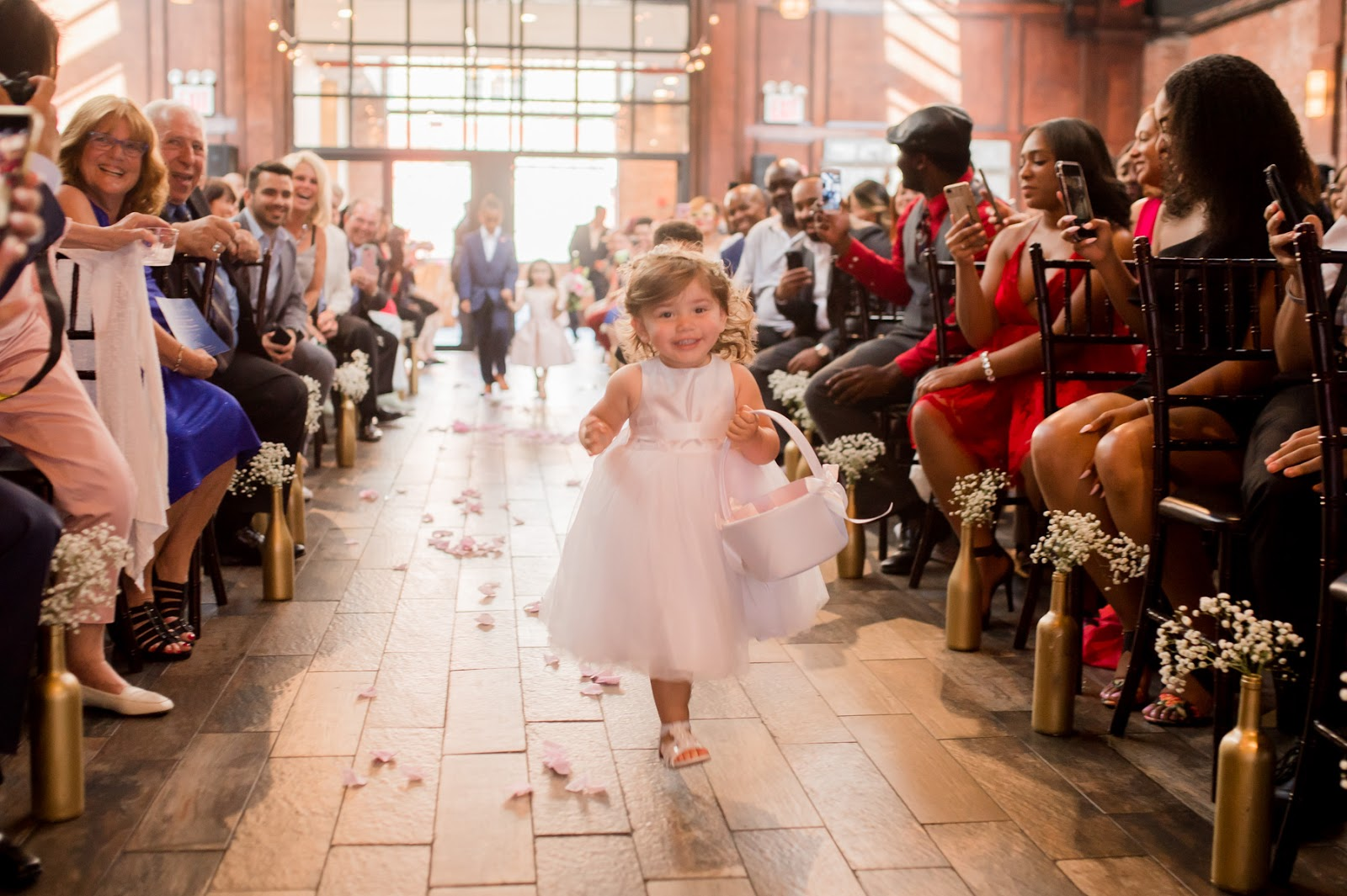Beautiful and Excited Little Bride
