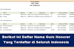 Cek Daftar Nama Honorer yang Terdaftar Di Seluruh Indonesia dan PP.NO.49 2019