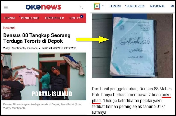 Tangkap Teroris, Buku Belajar Bahasa Arab Kok Disebut Buku Jihad?