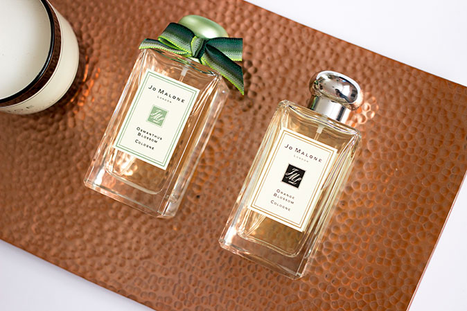 jo malone orange blossom and osmanthus blossom colognes
