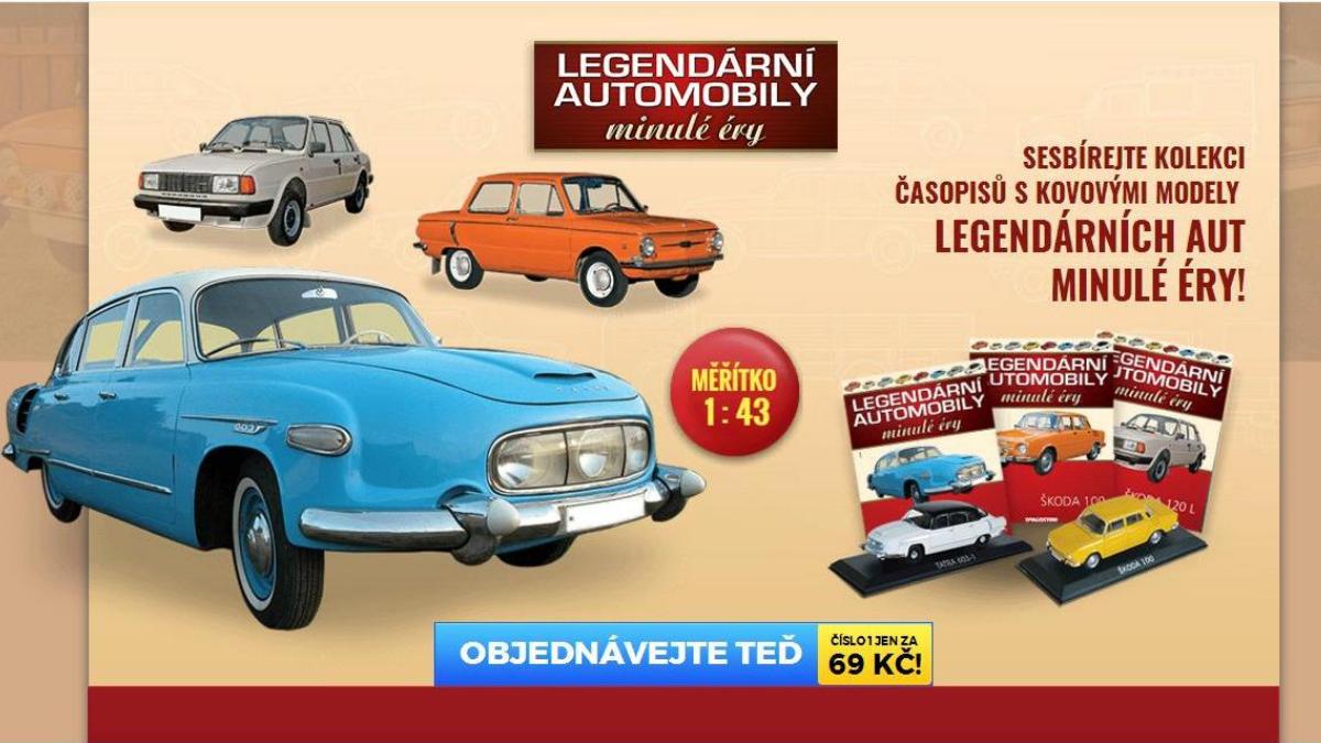 Legendární automobily minulé éry 1:43 DeAgostini