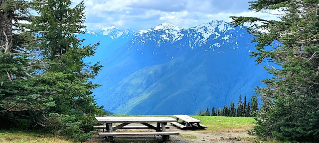 Nice Picnic area with beautiful views of the mountains