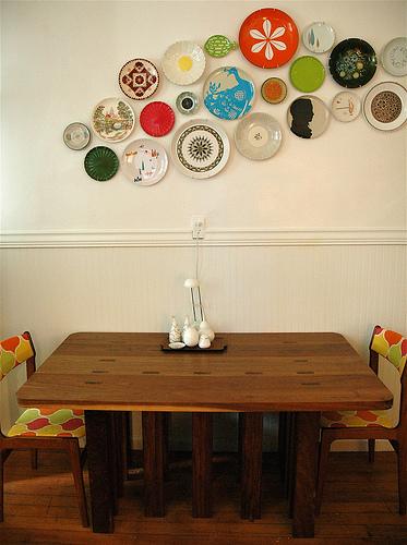 como decorar com pratos