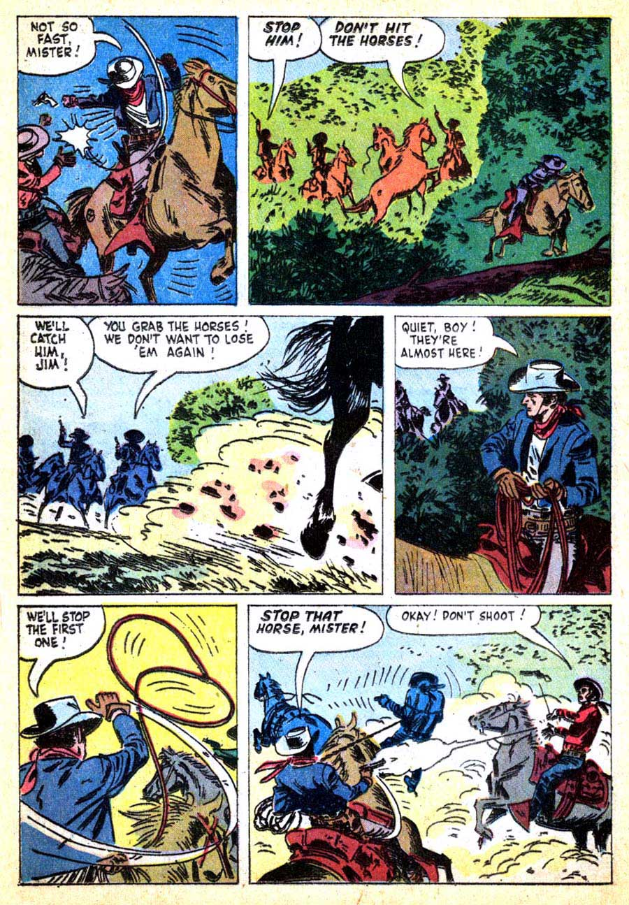Lawman v1 #4 dell 1960s western comic book page art by Alex Toth