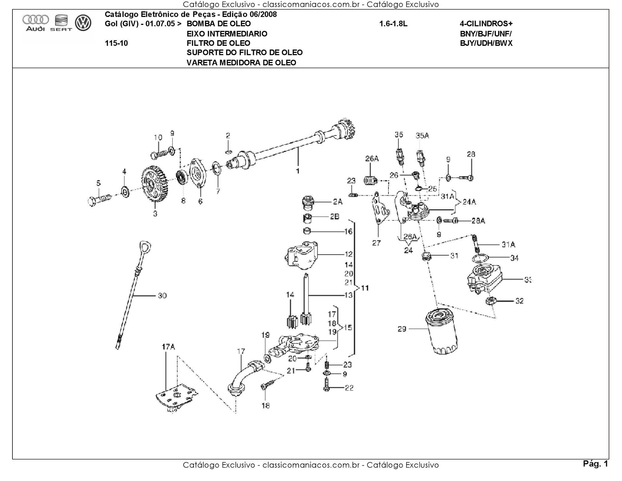 MANUAIS DO PROPRIETÁRIO GRÁTIS: CATÁLOGO DE PEÇAS DO VW