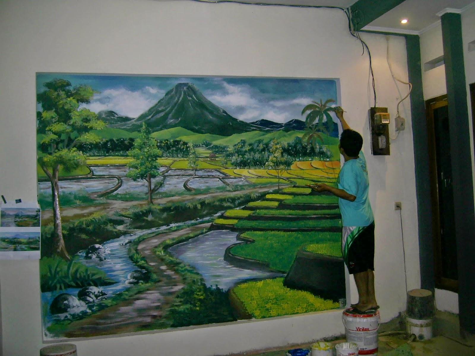 Lukisan Dinding Teras Rumah