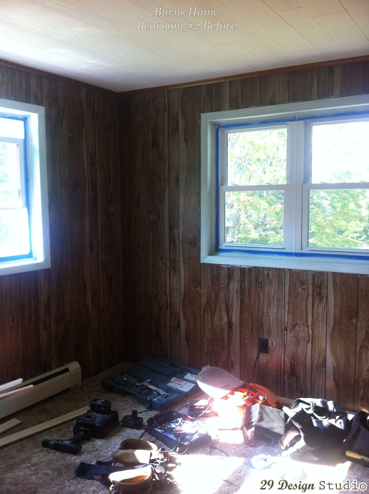 Monochromatic Design Blue Living Room