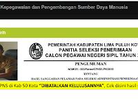 Cek Nama Anda, 3 Pelamar di Kab 50 Kota dibatalkan kelulusannya - Hasil Sanggahan CPNS 2019
