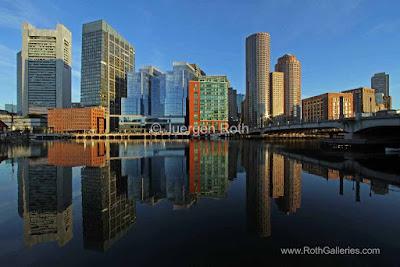 Boston downtown skyline photo images