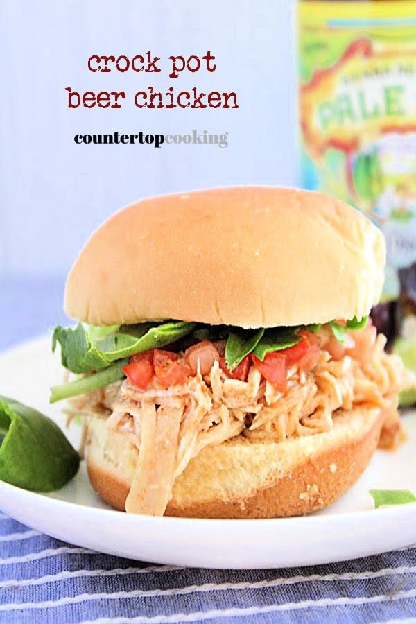 Crock Pot Beer Chicken- Countertop Cooking #countertopcookingblog #beer #chicken #crockpot #slowcooker  #dinner