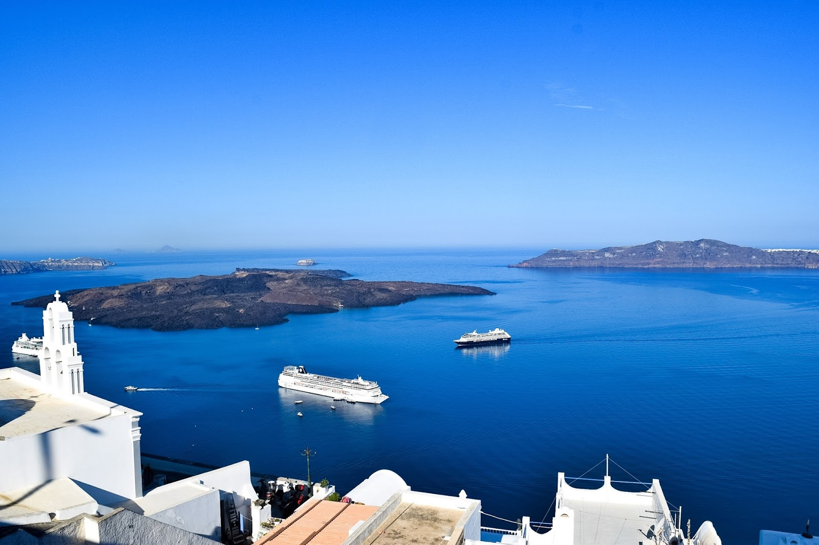 views in santorini