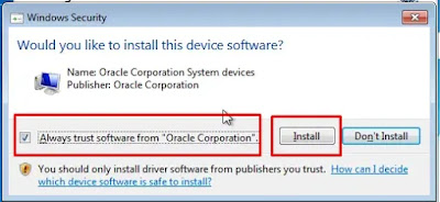 Install Software VBox to Device