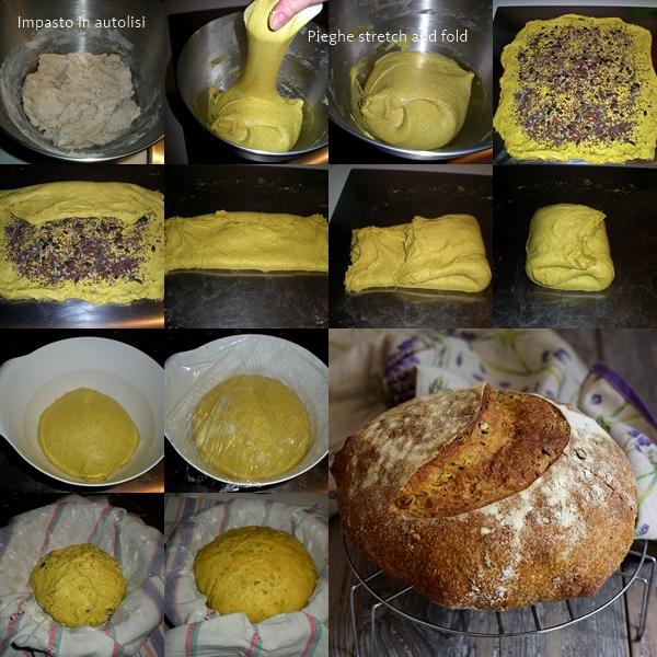 Pane con curcuma e semi misti