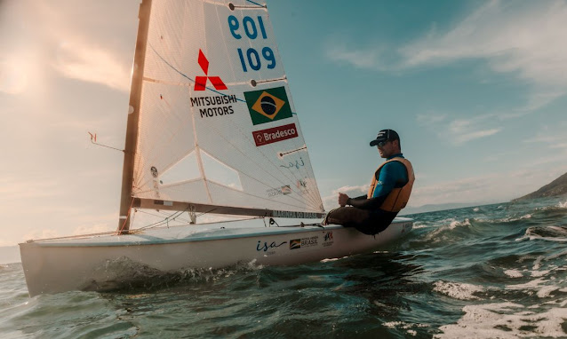 Jorge Zarif em treino na Baía de Guanabara