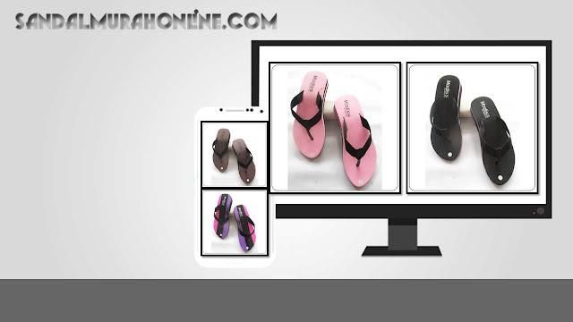 Grosir Sandal Online Termurah - Sandal Wedges Lisban Wanita WHY