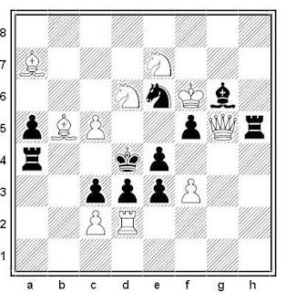 Problema de mate en 2 compuesto por Mark Basisty y Anatoly Vasilenko (3ª Mención, Jubilé A. Sarkits-75, 2001)