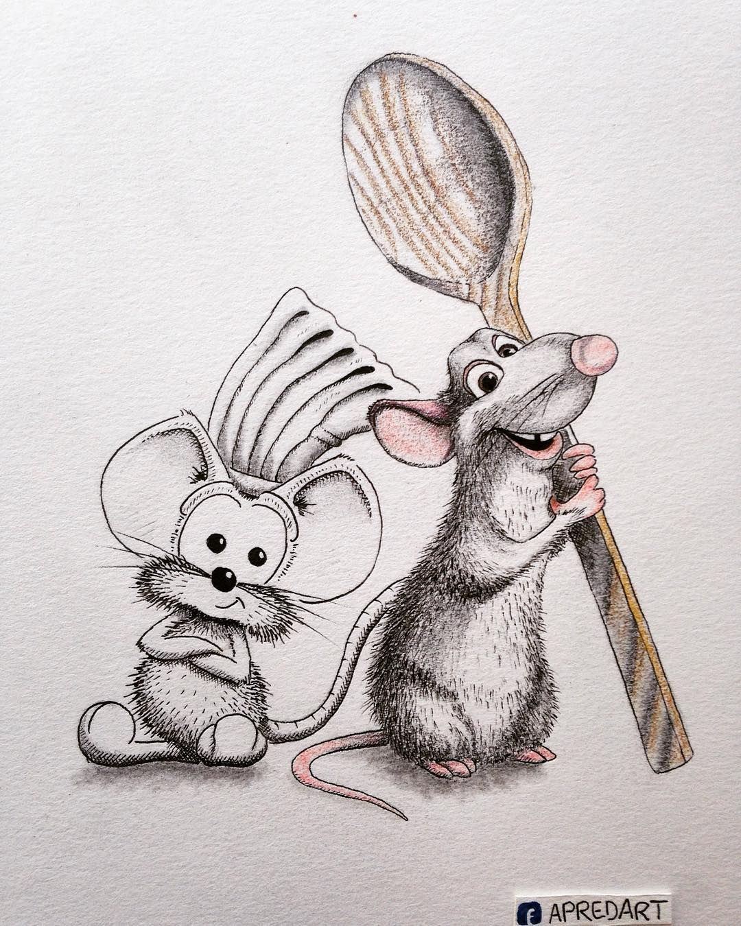 04-Remy-from-Ratatouille-Loïc-Apreda-apredart-Drawings-of-Rikiki-the-Mouse-and-his-Famous-Friends-www-designstack-co