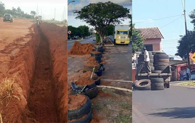Paraguaios cavam valas para impedir entrada de brasileiros no país