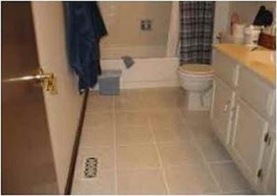 Bathroom floor idea tile porcelain that is safe and convenient