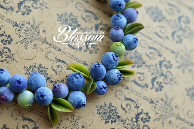колье с черникой, черника, полимерная глина, ручная работа, ягоды, летнее колье, колье с ягодами, фимо, handmade, blueberry, blackberry necklace, fimo, handmade,
