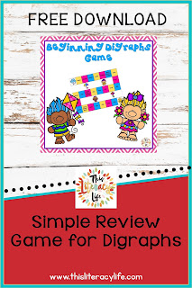 Practice reading and writing beginning digraphs with this easy to play game!