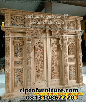 Gambar asli Pintu gebyok jepara Murah